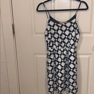 Navy patterned Dress by Forever 21